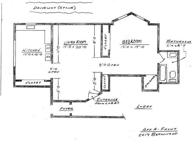 2419 Apt A Floor Plan