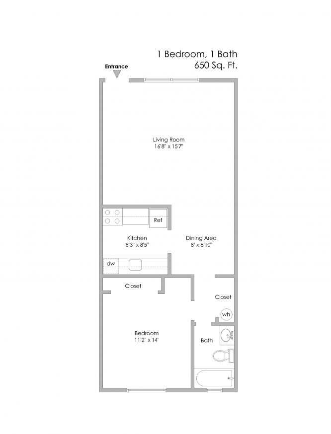 6350 Forward-1 Bedroom, Even Numbered Apts on 1st Level - Copy