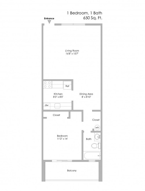 6350 Forward-1Bedroom, Even Number Apts on 2nd or 3rd Level