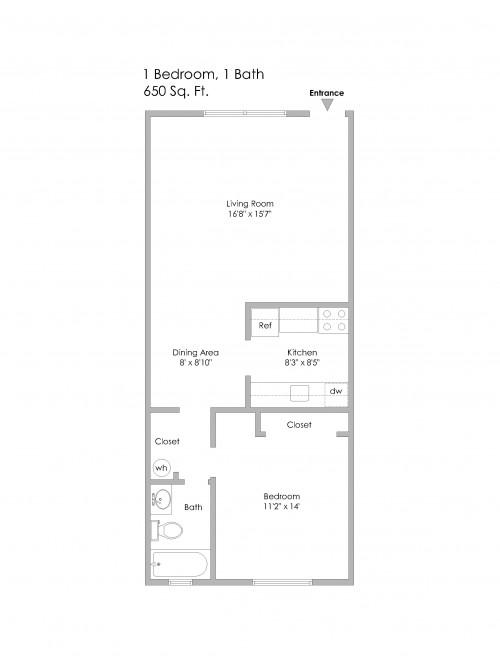 6350 Forward-1Bedroom, Odd Numbered Apts 1st Level
