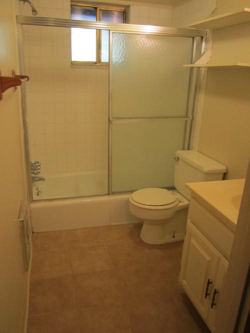 Bathroom with new floors