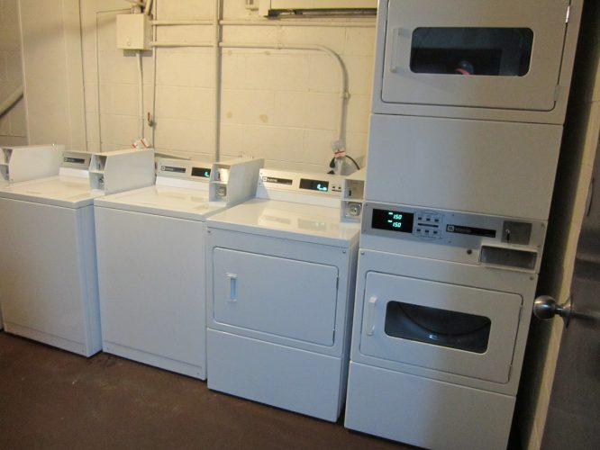 Laundry Room with New Machines