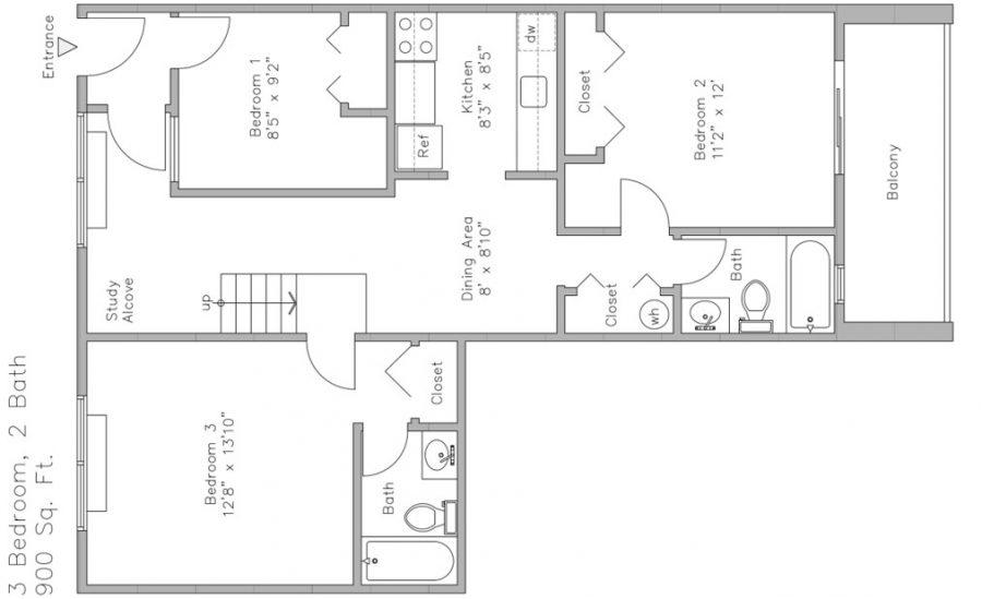 Units 15 & 25 3-Bedroom Apt