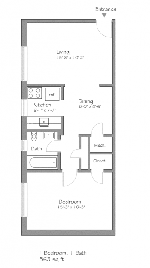 Floor Plan For B2, B5, B8 , B11