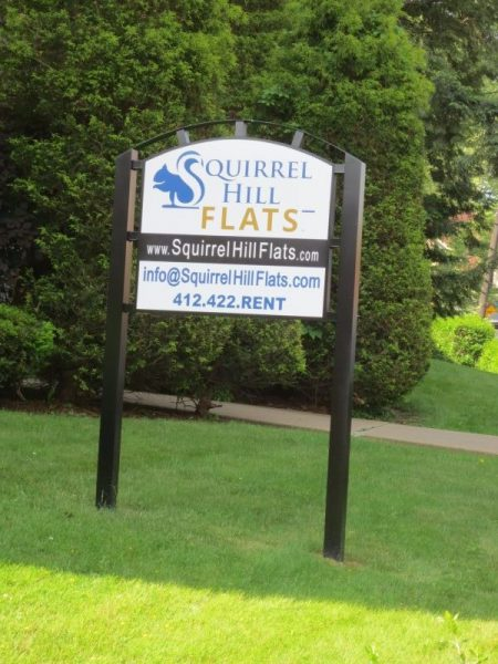 Squirrel Hill Flats Sign
