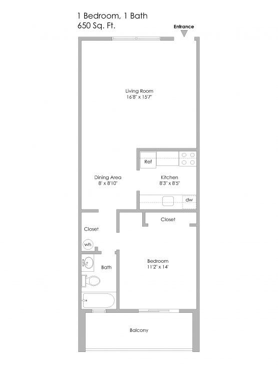 1 - 6350 Forward-1 Bedroom, Odd Numbered Apts on 2nd or 3rd Lvl