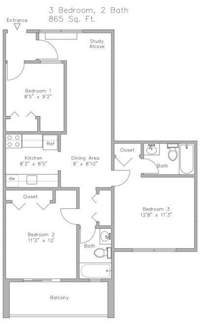 Units 14 & 24 3-Bedroom Apt