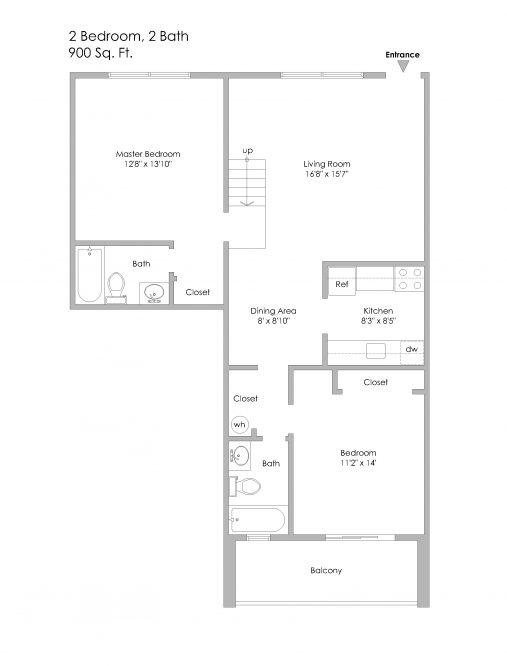 2 - Split Level - 6350 Forward-2 Bedroom Apt, Units 15 and 25