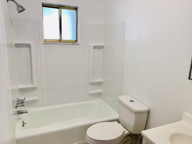 Unit 15 Hall Bathroom Updated with Surround Tub