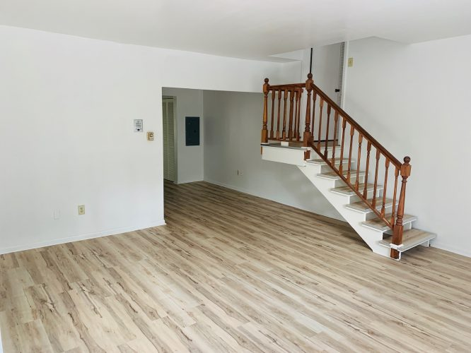 Unit 15 Living Room with New Floors 2