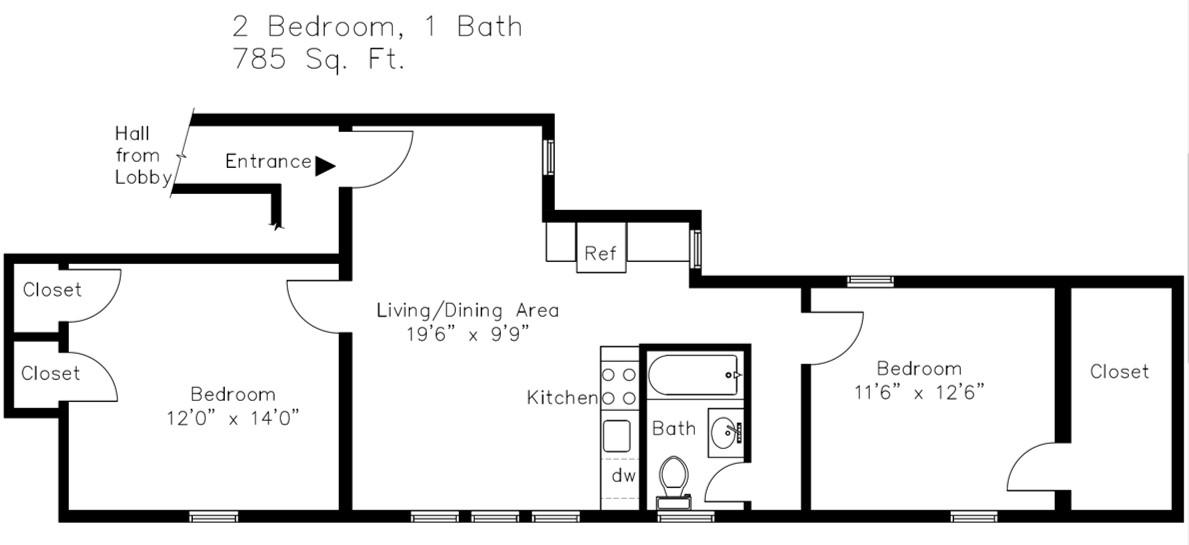 New Horizontal 2421C Floor Plan