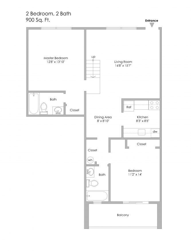 10 - 6350 Forward-2 Bedroom Apt, Units 15 and 25